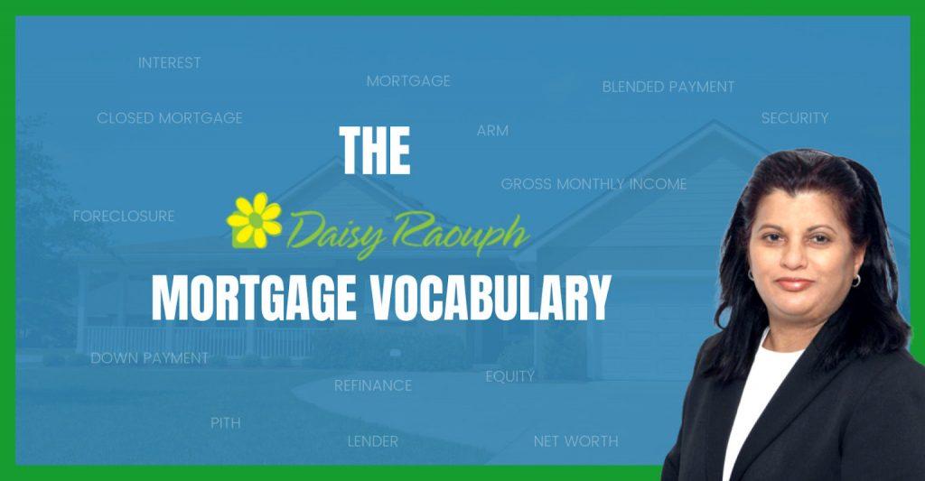 Mortgage Vocabulary | Mortgage Broker Ajax,Toronto, Durham Region, GTA,Pickering,Ontario, Canada
